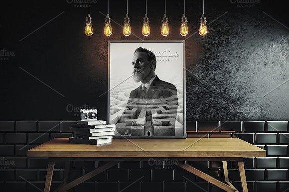 Download Frame on dark interior background