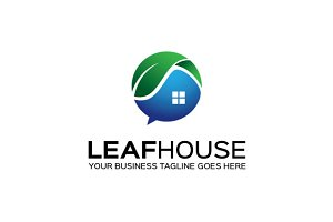 Leaf House Logo Template