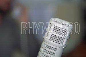 Radio personality DJ on the air