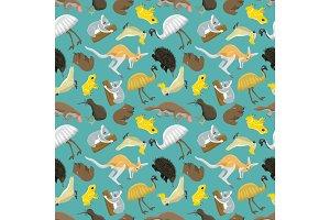 Australian seamless pattern vector.