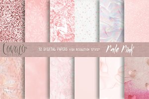 Pale Pink Digital Papers Texture