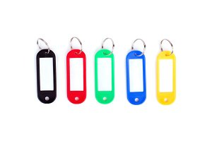 Colorful collection of a key fob