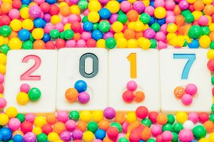 New Year 2017 background colorful background