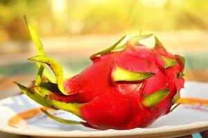 dragon fruit close up photo