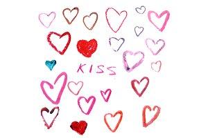 Lipstick heart. eps+jpg