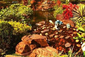 beautiful asian formal garden