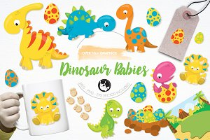 Dinosaur babies illustration pack