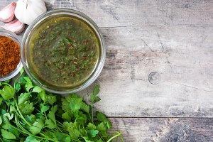Green Chimichurri Sauce