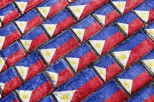 Philippines Urban Grunge Pattern