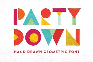 Party Down - Geometric Font
