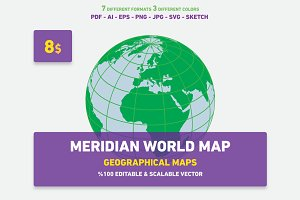 Meridian World Map