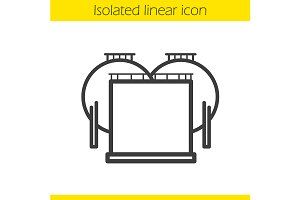 Oil tank icon. Vector