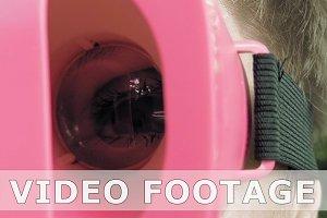 Huge terrific and fun eye through VR glasses lens