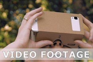 Exploring virtual reality in cardboard VR glasses