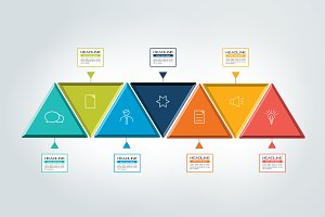 Seven  steps chart, template