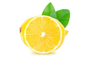 Lemon isolated. Clipping path