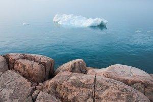 Coast of Greenland with Iceberg