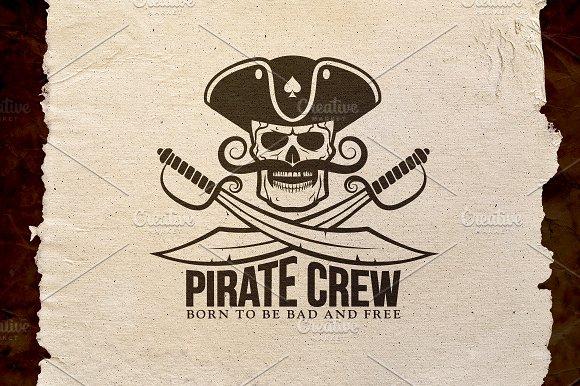 Pirate Crew Logo Logo Templates Creative Market