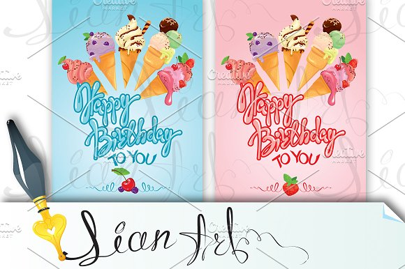 2 Cards Happy Birthday