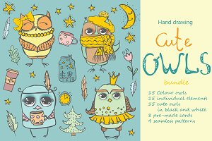Cute OWLS bundle