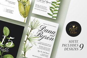 Wedding Invitation Suite - Forestal