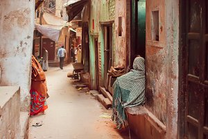Street of ancient indian city