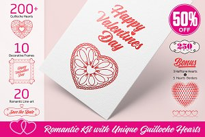 Romantic Kit with Guilloche Hearts