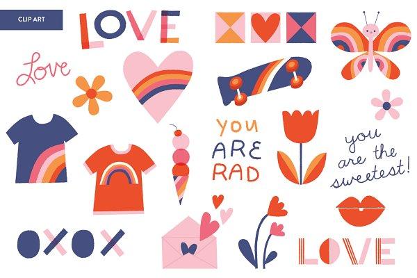 Rad Love Valentine's Day | Clip Art