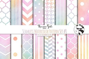 Seamless Watercolor Patterns #1 PR
