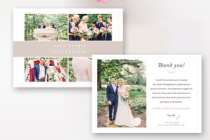 Photographer Thank You Card