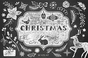 Christmas hand drawn pack