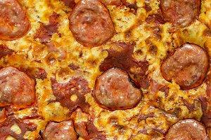 Delicious traditional pizza