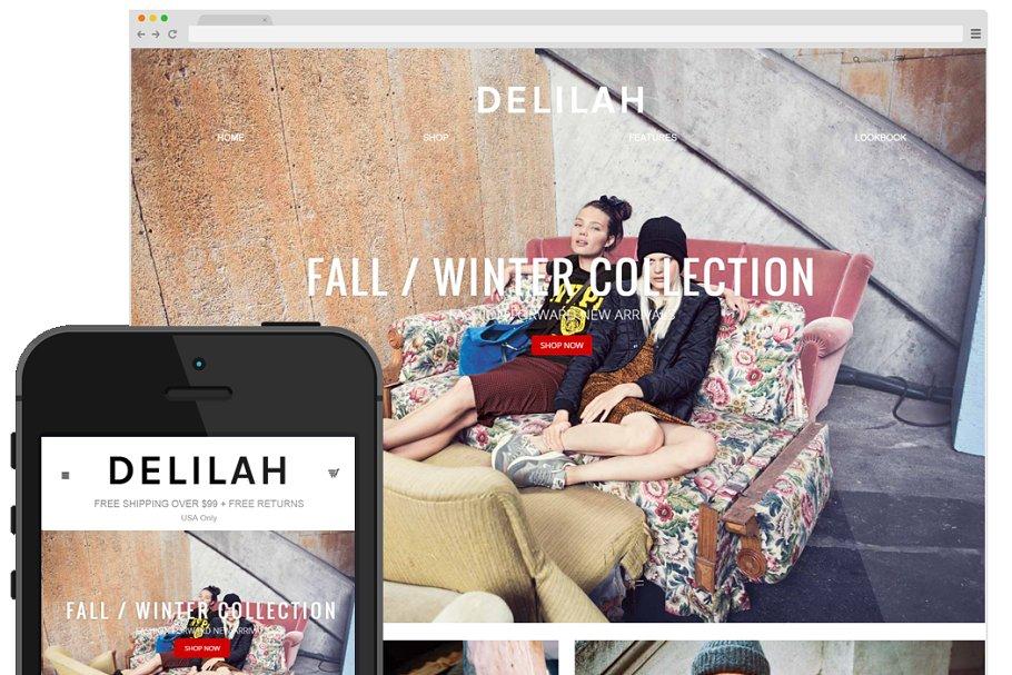 3f66f149103 Delilah - Storenvy Theme ~ Themes ~ Creative Market