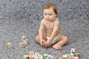Little boy with blocks