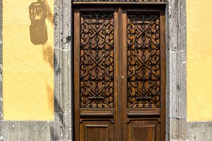 Wooden door of mexico
