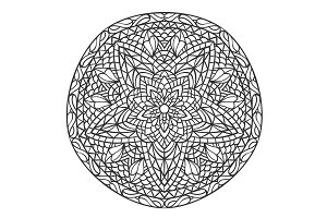 Mandala. Decorative ornament element pattern. Hand drawn ethnic tribal background template