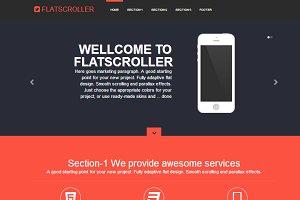 FlatScroller Bootstrap flat landing