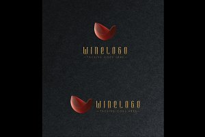 Wine Logo/Gold Effect + Light Effect