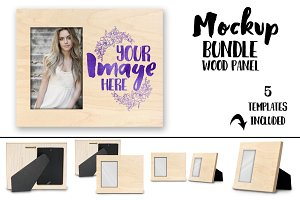 Wood photo frame sublimation mockup