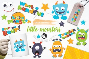 Little monsters illustration pack