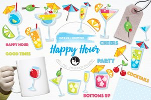 Happy hour illustration pack