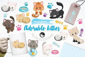 Adorable kitties illustration pack