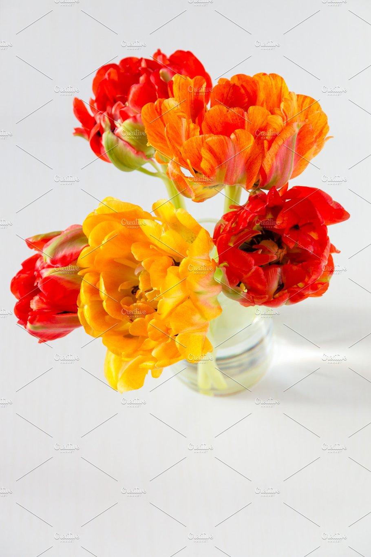 Beautiful Tulips Flowers Bouquet Holiday Photos Creative Market