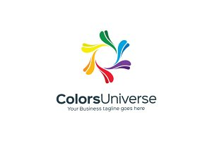 Colors Universe Logo Template