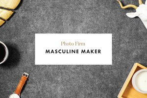Styled Photography | Masculine Maker