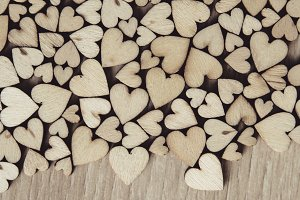 wood heart shape