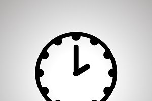 Clock simple black icon