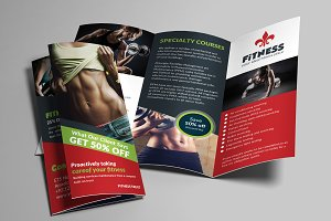 Gym and Fitness trifold Brochures