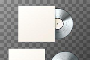 Platinum album vinyl disc with cover