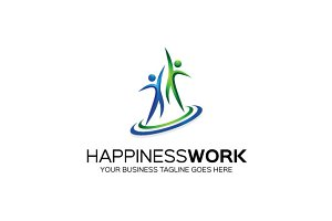 Happiness Work  Logo Template